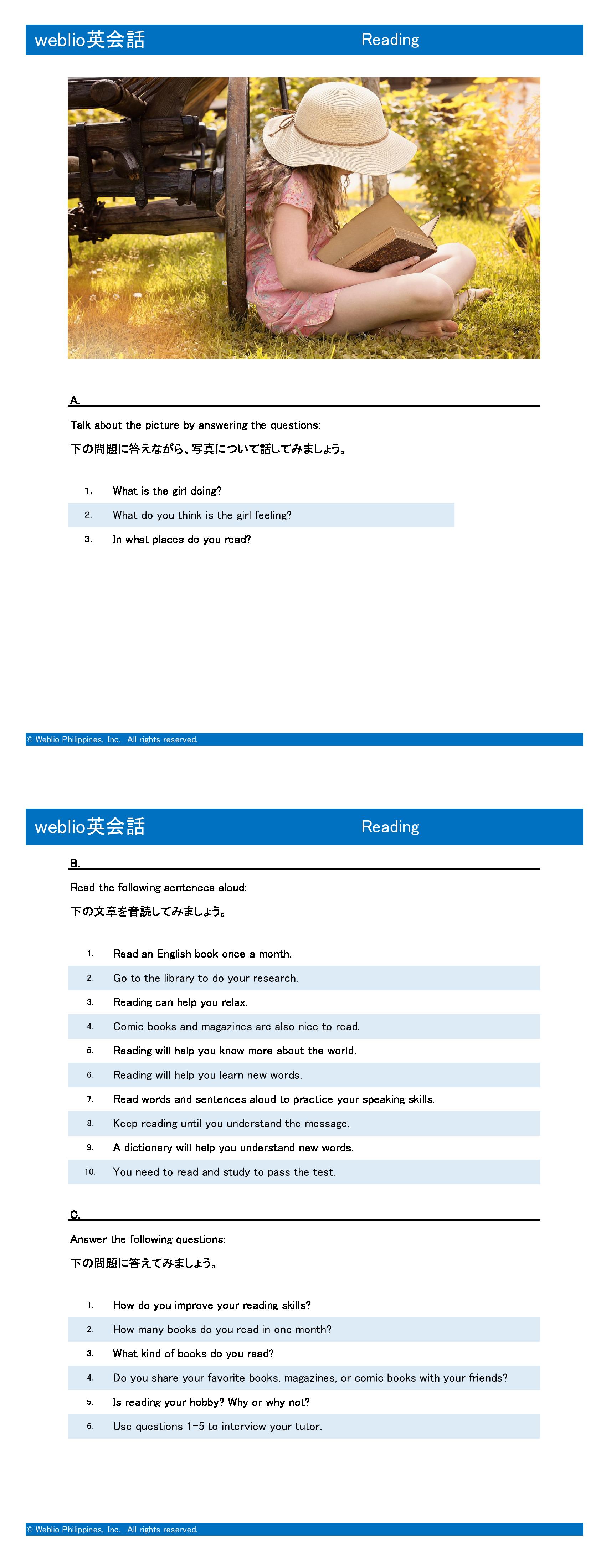 speaking-intermediate-reading