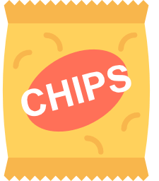 one bag of potato chips