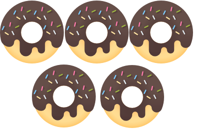 five donuts