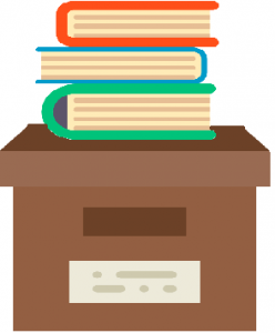 books on a box