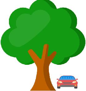 car under the tree