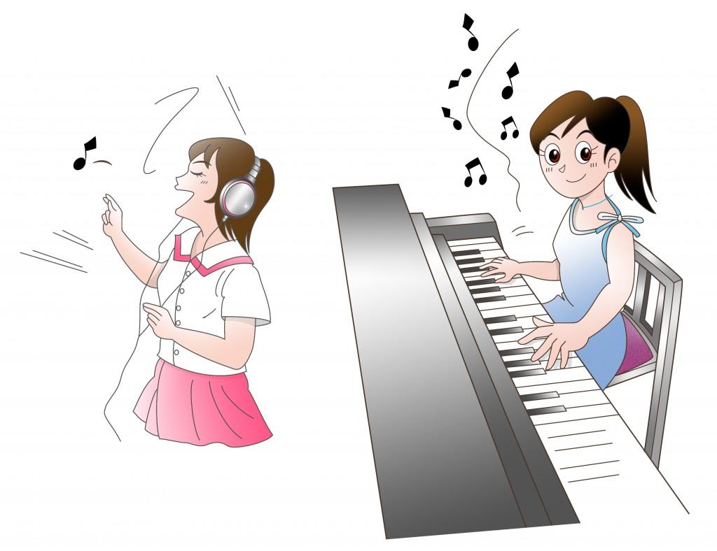 ピアノ、ボーカル